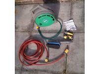 Hozelock Garden Hose and additional bits - Hosepipe Car Cleaning Brush