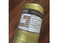 5.0mm Foam Polyethylene Underlay with Gold Foil (best for wood/ laminate) 10m2 roll (4 available)