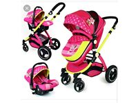 Pushcair 3 in 1 luxury travel system