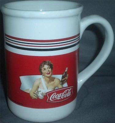 Coca Cola Coke Woman Bathing Suit Coffee Tea Mug Cup Ceramic Red White Gibson