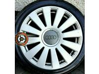 """18"""" Genuine Audi RS8 alloys, good condition, 4 excellent tyres."""