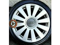 "18"" Genuine Audi RS8 alloys, good condition, 4 excellent tyres"