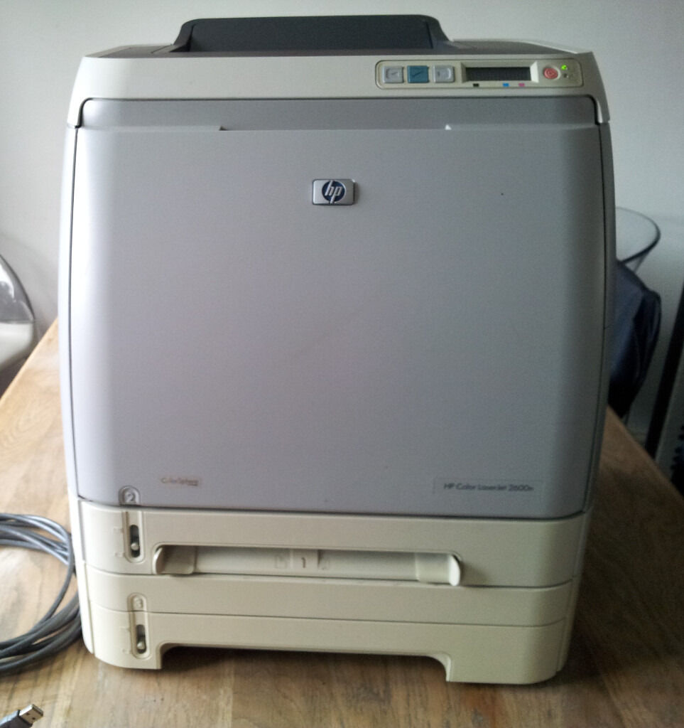 HP Colour Laserjet 2600n Printer with Toners. Patch into your Router, Print  from anywhere