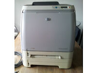HP Colour Laserjet 2600n Printer with Toners. Patch into your Router, Print from anywhere.