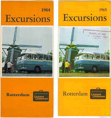 Vintage Rotterdam Excursions Brochures - 1964 & 1965 Editions - Holland