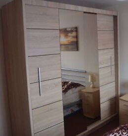 Oak Sliding Wardrobe