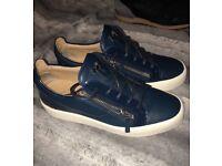 Men's Giuseppe zinotti blue trainers
