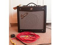 Fender Mustang Amp - New Never Used with Lead