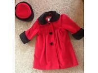 2-3 Years jingles dress coat and hat