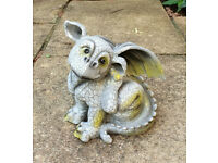 Resin Dragon Ornament for Garden/ indoors. Excellent Condition.