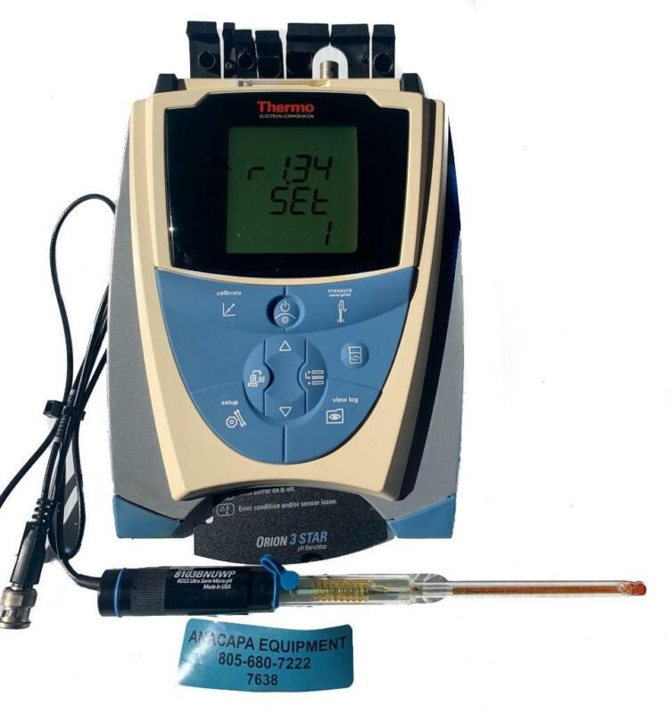 Thermo Scientific Orion 3 Star pH Benchtop Meter W/Orion 8103BNUWP Probe (7638)W