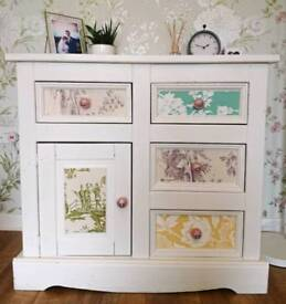 Lovely White Painted Upcycled Cupboard Drawers Dresser Side Board Shabby Chic