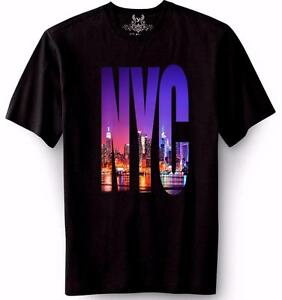 New mens digital printed nyc new york city landscape for Digital printed t shirts