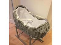 Baby Moses basket with free stand