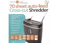 New Cathedral 70 Sheet Auto Feed Shredder Cross Cut