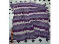 Large Shawl Glitter/silver /purples/white Bristol (Oldland Common)