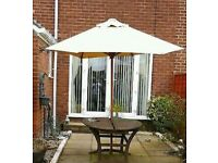 large garden parasol/canopy/umbrella for table