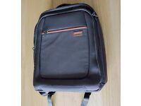 Melvin Slim Designer 15.6 Inch Laptop Backpack, Brown