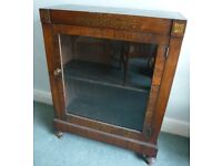 Antique Late Victorian Mahogany Display Cabinet with lovely inlay
