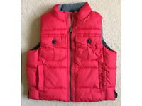GAP KIDS RED GILET AGE 2