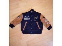Ralph lauren boys 18m part leather coat jacket