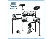 Roland TD-9KX version 2 module electronic V Drums kit & pedal FULL MESH SET - excellent