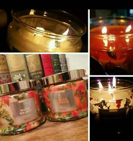 Partylite fragranced 3wick jar candles
