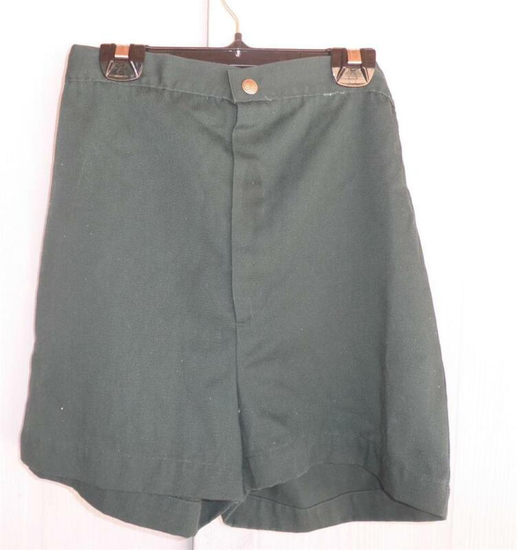 1960s Girl Scout CAMP SHORTS Camping Uniform Green   Scouts
