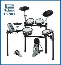 Roland TD-9KX version 2 module electronic V Drums kit & pedal FULL MESH SET - nice set
