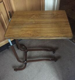 Table Tray for over Bed Chair Disability Castors
