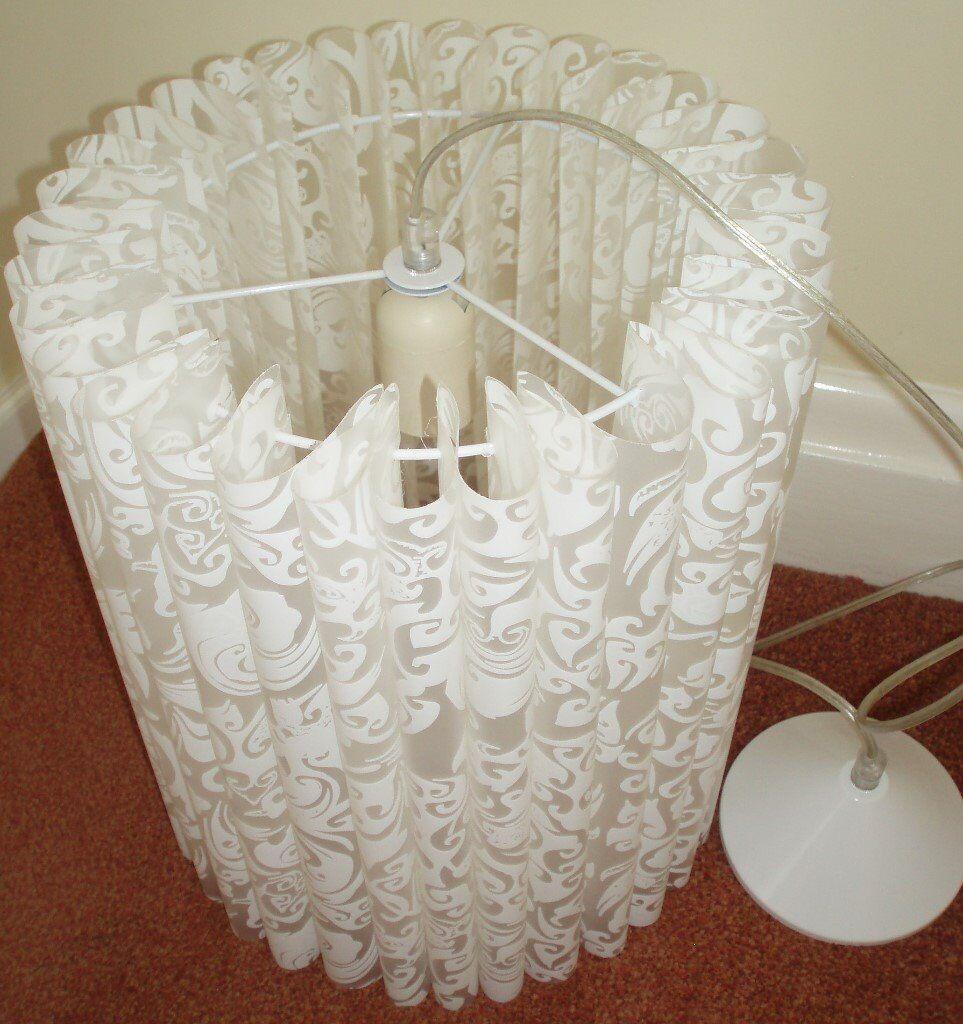 White Pleated Pendant Light Shade - Never Used