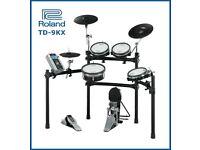 Roland TD-9KX V DRUMS electronic drum kit. MESH pads Pedal & VEX pack V2 module
