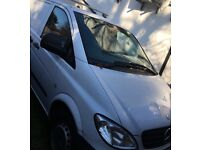 White mercedes vito 109cdi compact van - VERY LOW MILEAGE , SERVICE HISTORY , ONE OWNER