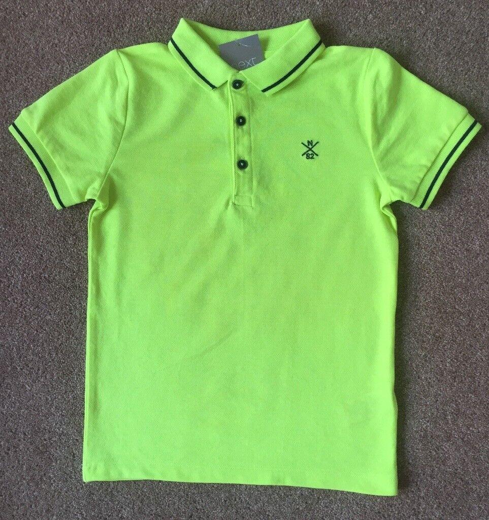 b6086d4c1 BNWT Next Boy Bright Yellow Polo Shirt 5 Years