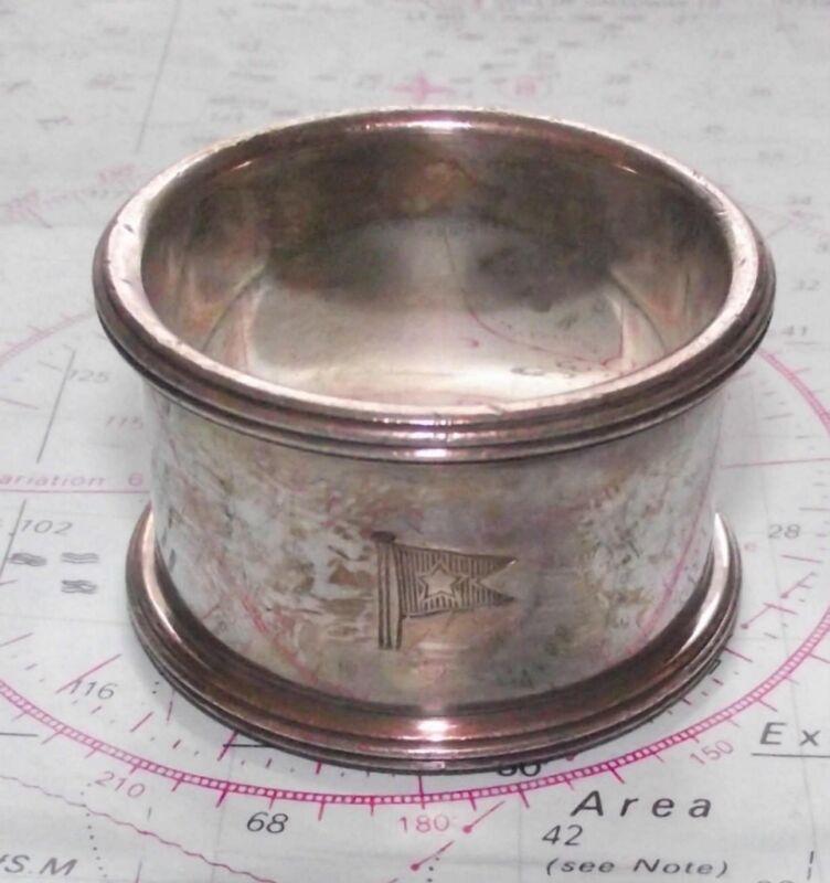 Original WHITE STAR LINE Elkington Napkin Ring No 346 Titanic / Olympic etc