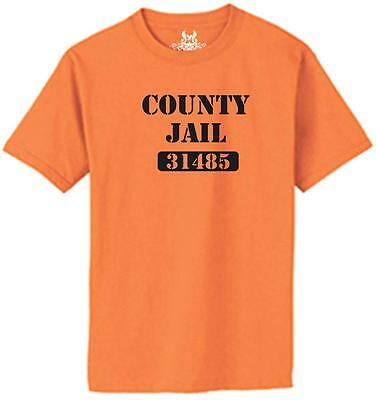 Printed COUNTY JAIL Halloween costume Funny MMA T-shirt state prison prisoner