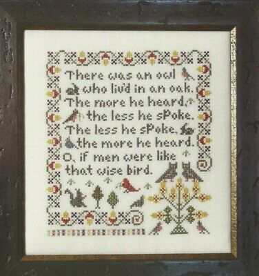WISE OWL--Poem--Great Life Lesson--Rosewood Manor--Counted Cross Stitch Pattern](Owl Poem)