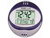 Kadio Digital Jumbo Wall Mount & Table Temperature Display Clock