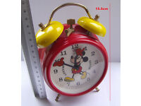 Mickey Mouse Clock - Vintage - Bradley - Collectable - Working - Superb