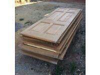 Old pine 6-panel internal doors