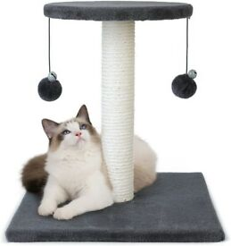 Grey 43cm Cat scratching post - BNIB - suitable for kitten / small cat