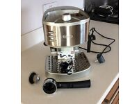 DeLonghi 2 in 1 ESE coffee machine. Hardly used