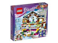 Lego Friends Snow Resort Ice Rink Play Set 41322 Boxed 100% Complete