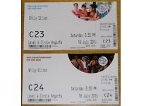 Two best tickets for Billy Elliot in Cardiff at 2:30 on Saturday 16 July 2016