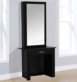 Dressing table, new, un-opened from original packing,black, collection only