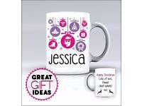 Xmas, Secret Santa - Mug / Mugs - Add Any Name of Your Choice