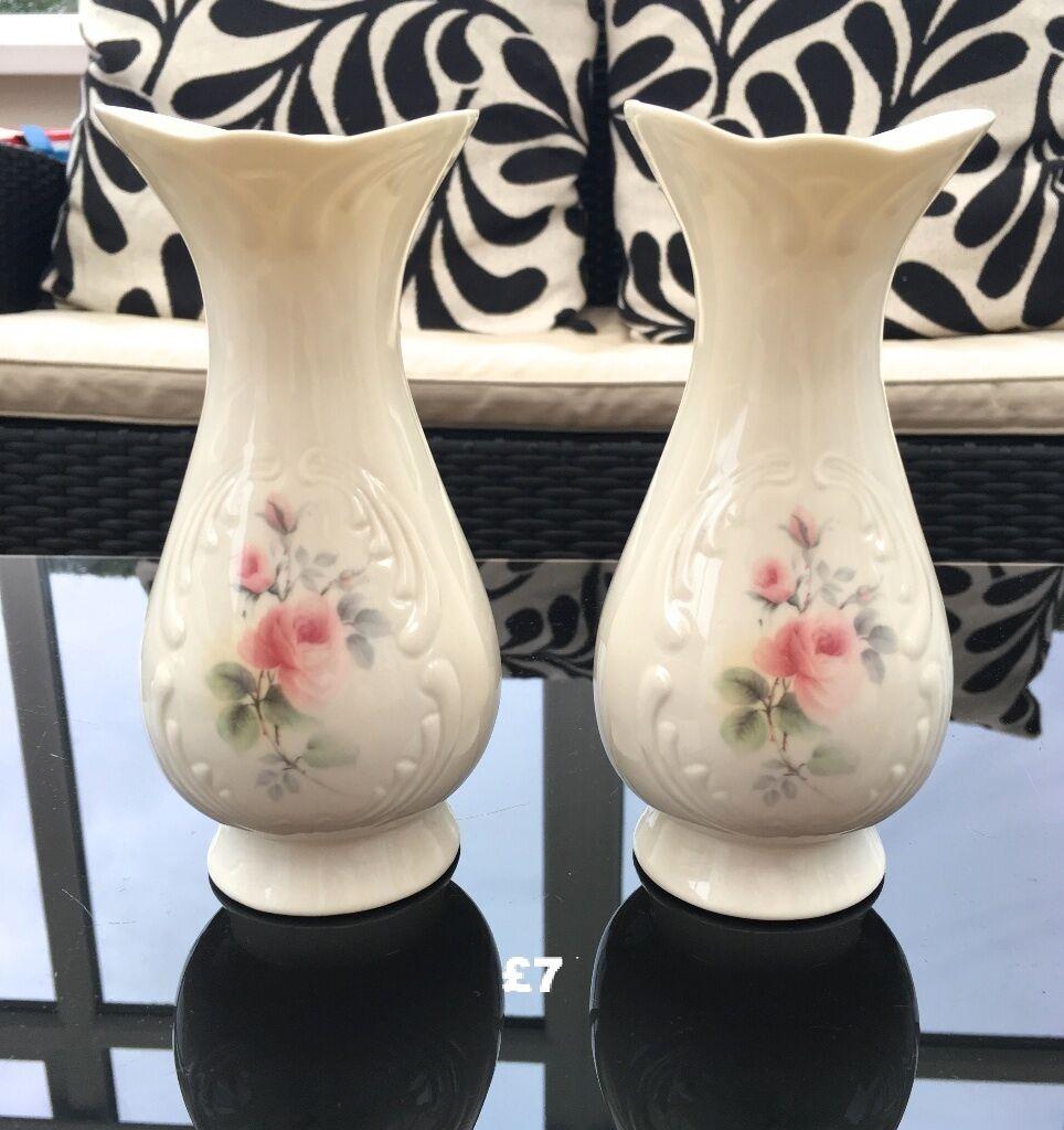 Kitchen Worktops For Sale Ireland: Donegal Irish Parian China Vases, Beautiful Rose Design