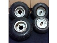 2 suzuki lt 50 Quad wheels & tyres & 2 mini moto sold sepparate.