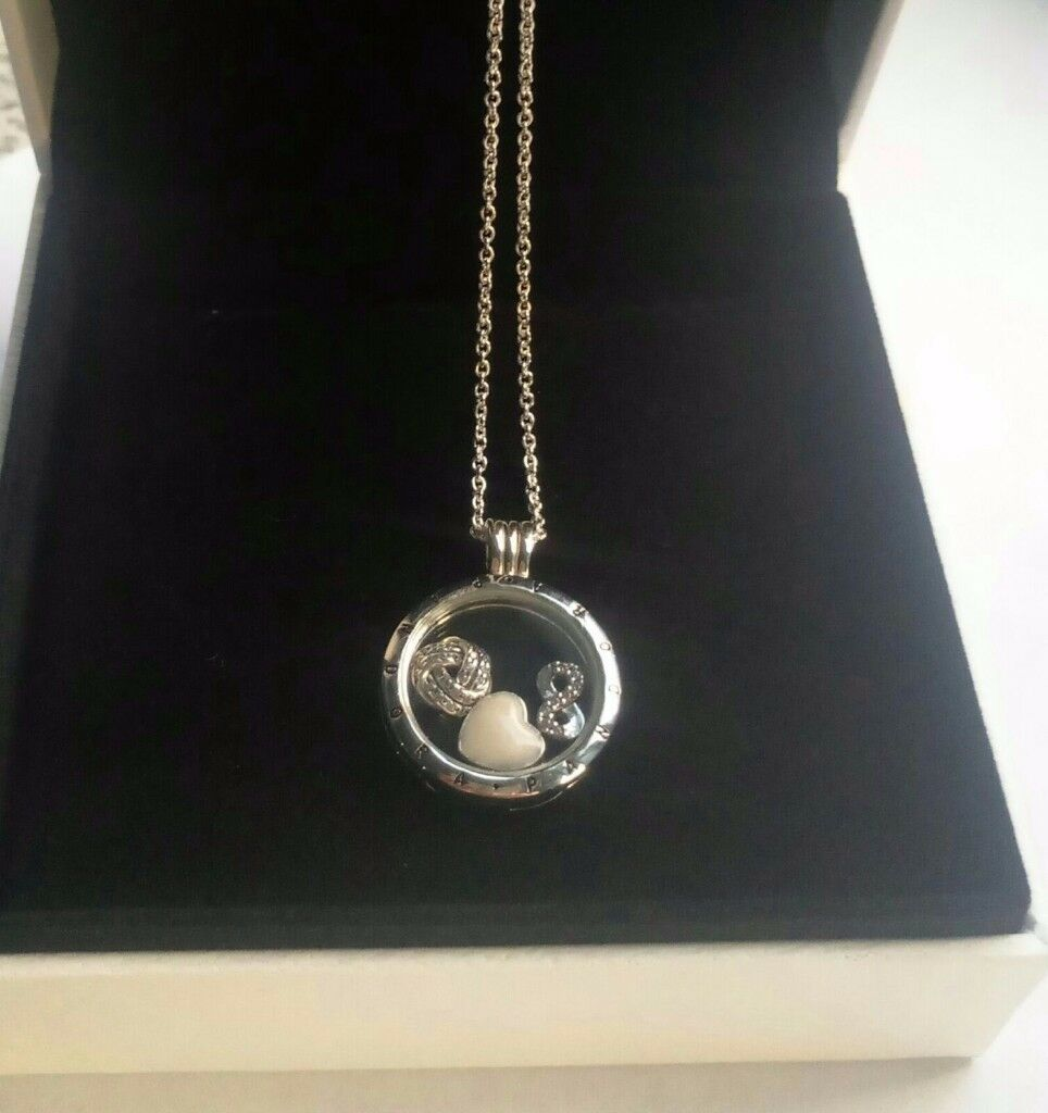 Pandora floating locket Infinity and Love petite charms necklace £80