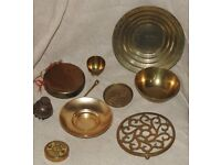 Collection of Brass Items.